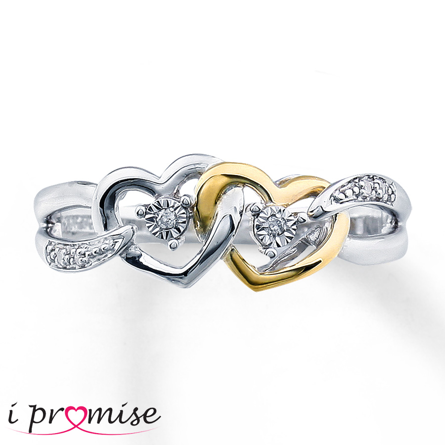 diamond promise ring sterling silver10k gold 23000603