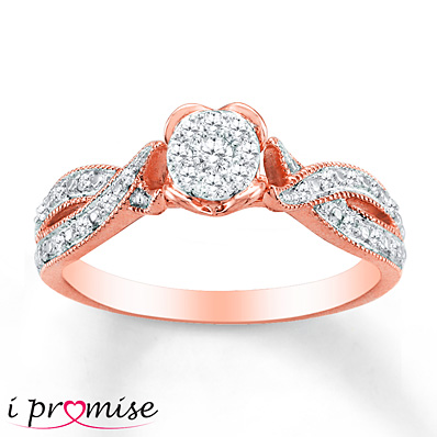 Sterlingjewelers Diamond Ring 1 5 Carat Tw 10k Rose Gold
