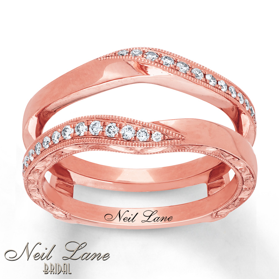 Neil Lane Enhancer Ring 1/5 ct tw Diamonds 14K Rose Gold - 41111802 ...