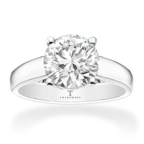 ceb304e0b Tolkowsky Diamond Solitaire Ring 2 Carats 14K White Gold Event Price