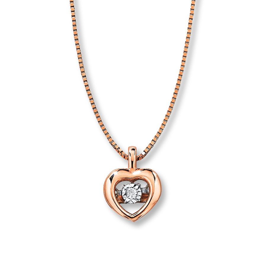 Sterlingjewelers petite diamonds in rhythm heart for 10k gold jewelry