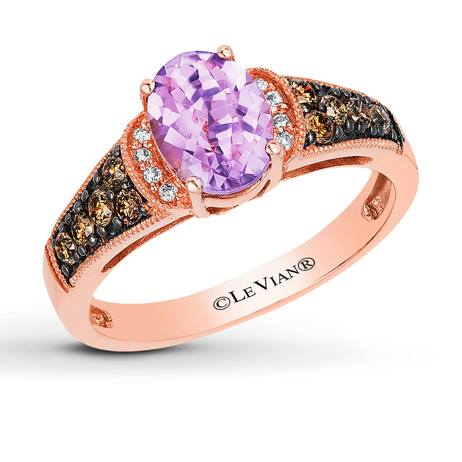 Le Vian Amethyst Ring 1 4 Ct Tw Diamonds 14k Strawberry
