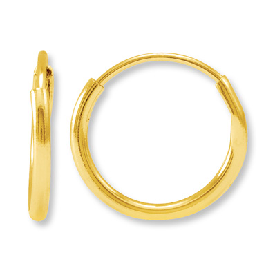 Hoop Earrings 14K Yellow Gold | Tuggl