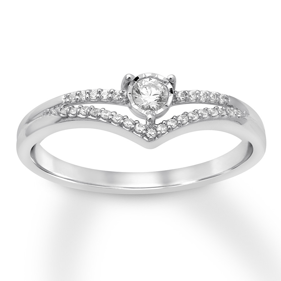 bb861d7c9 Diamond Fashion Ring 1/3 Carat tw 10K White Gold - 580387607 ...