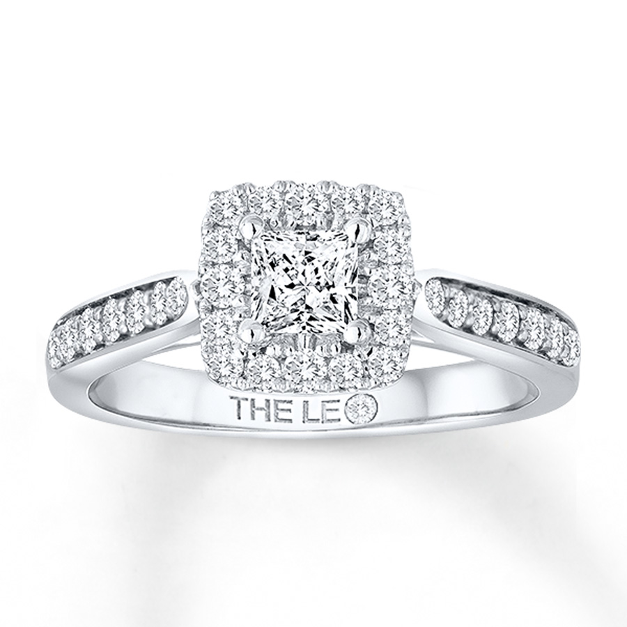 Previously Owned Leo Diamond Ring 34 Ct Tw 14k White Gold Tap To Expand: Leo 3 Stone Wedding Bands At Reisefeber.org