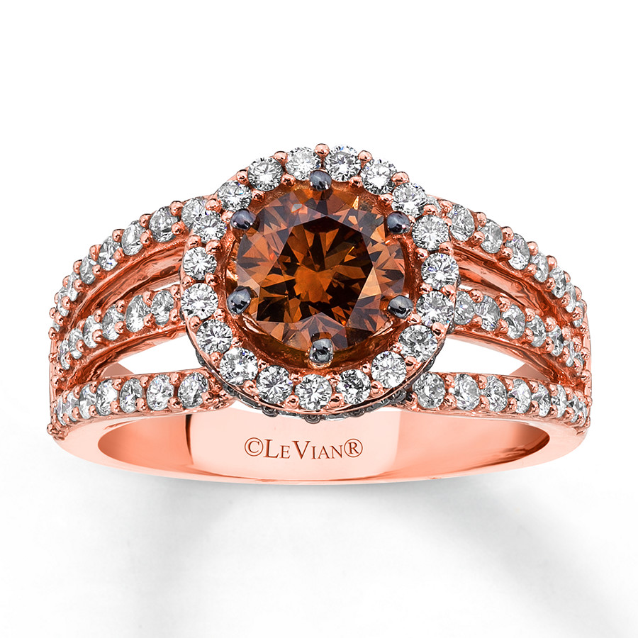 hover to zoom - Chocolate Diamond Wedding Rings