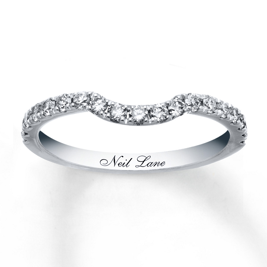 Neil Lane Wedding Band 3/8 Ct Tw Diamonds 14K White Gold