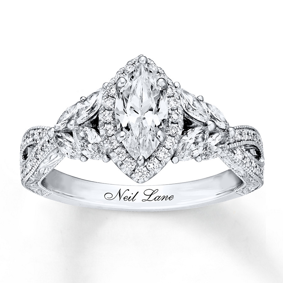 bb623823b Neil Lane Engagement Ring 1-3/8 ct tw Diamonds 14K White Gold. Tap to expand