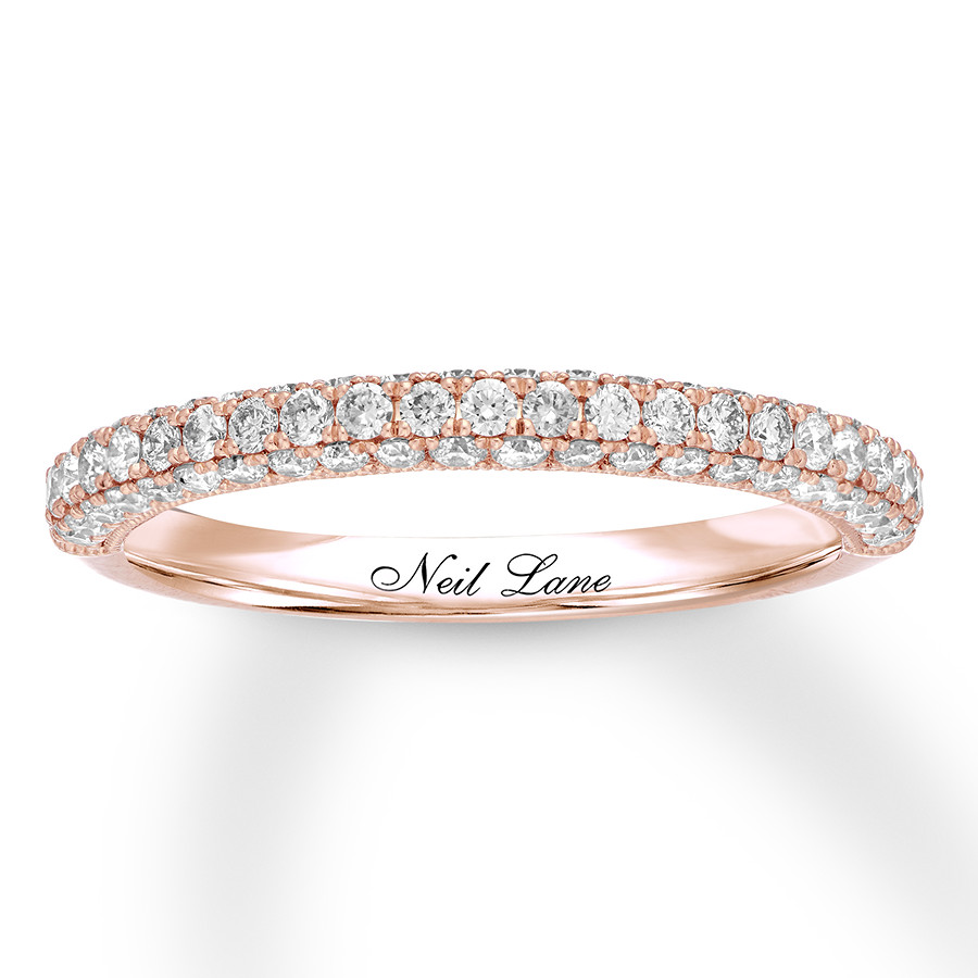 751d9ca97f12e Neil Lane Diamond Wedding Band 5/8 ct tw 14K Rose Gold - 94036572199 ...