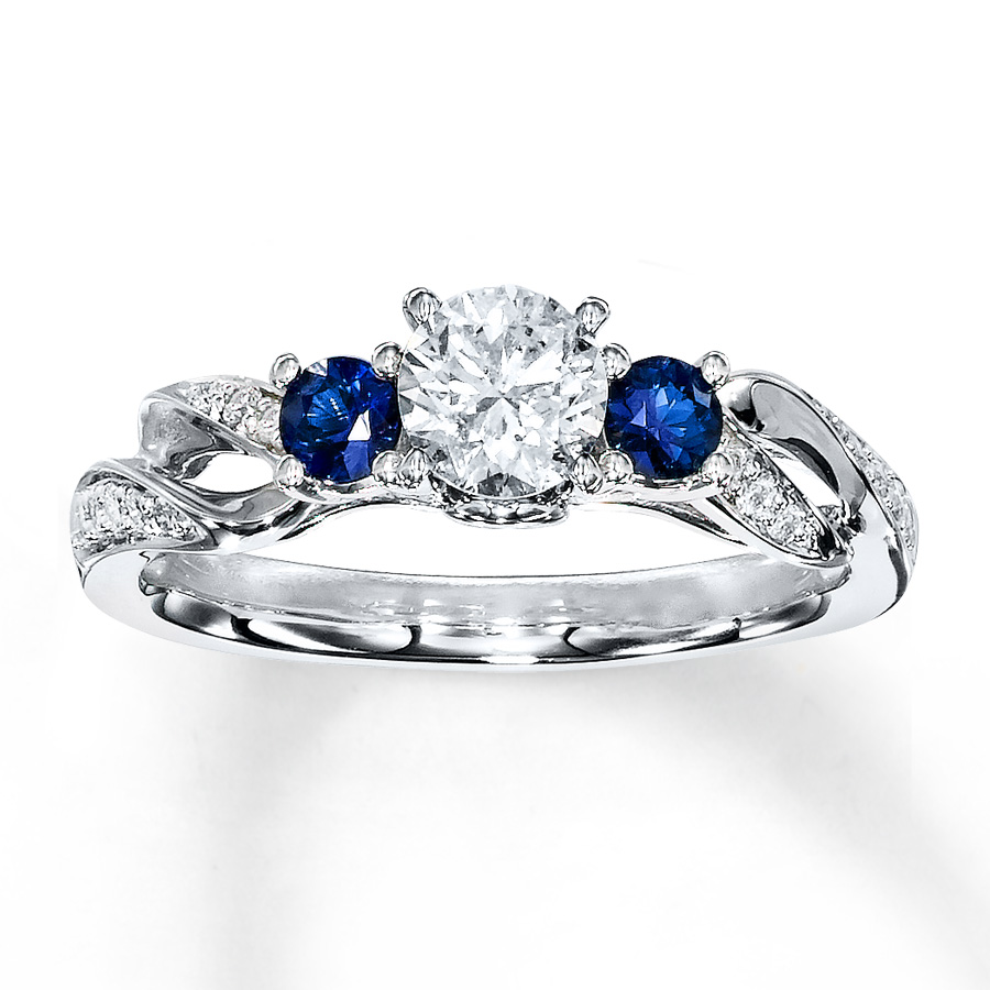 sterlingjewelers sapphire ring 1 2 ct tw