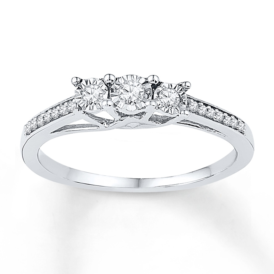 sterlingjewelers 3 promise ring 1 6 ct tw diamonds
