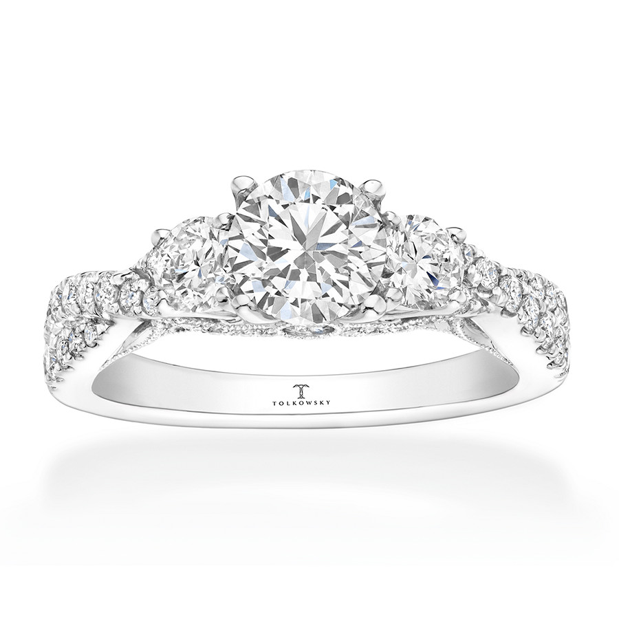c0aab14bf Tolkowsky Engagement Ring 1-1/2 ct tw Diamonds 14K White Gold. Tap to expand