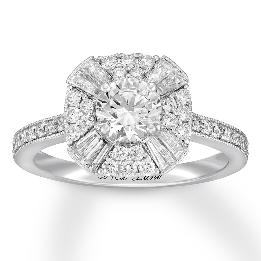 01c63a092 Neil Lane Diamond Engagement Ring 1-3/8 ct tw 14K White Gold ...